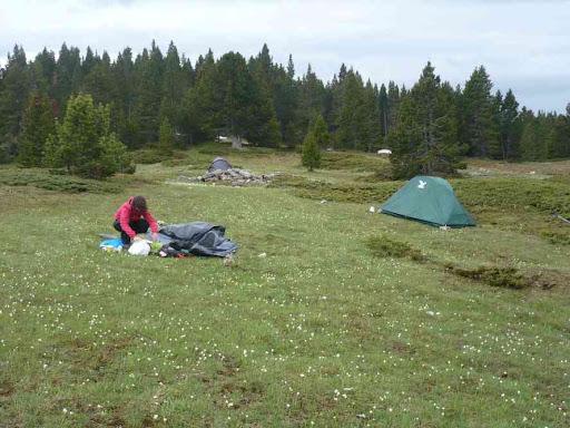 Lever du camp avant le départ