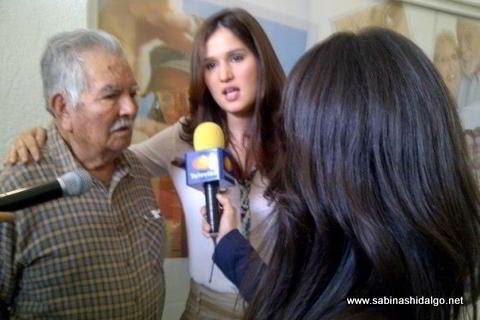 Diputada Martha de los Santos entrevistada para televisión