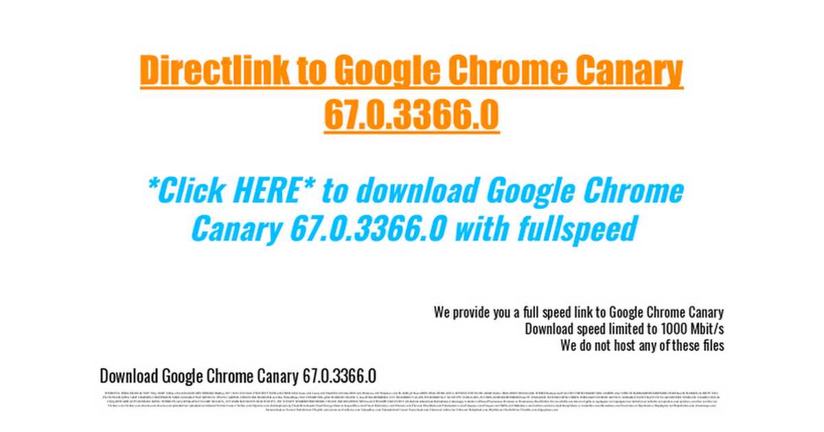 Download Google Chrome Canary 67 0 3366 0 - Google Docs