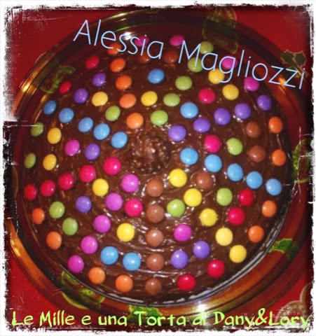 torta nutella-smarties