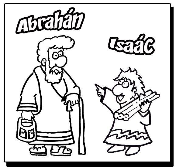 Abraham e Issac para colorear