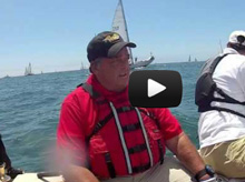 J/105 sailor Dennis Conner enjoying sailing off San Diego