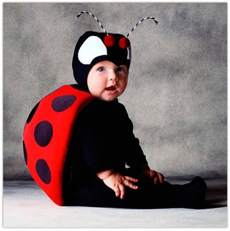 Tiernos bebes disfrazados para halloween - Disfraz de mariquita bebe ...