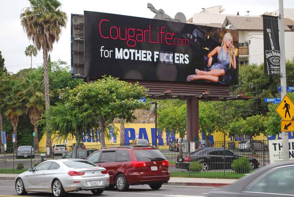 Racy CougarLife Billboard is Sure To Cause Some Trouble