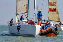 J/109 racer cruiser sailboat- sailing RORC Easter Challenge