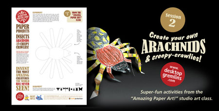 Paper Arachnids Creepy Crawlies