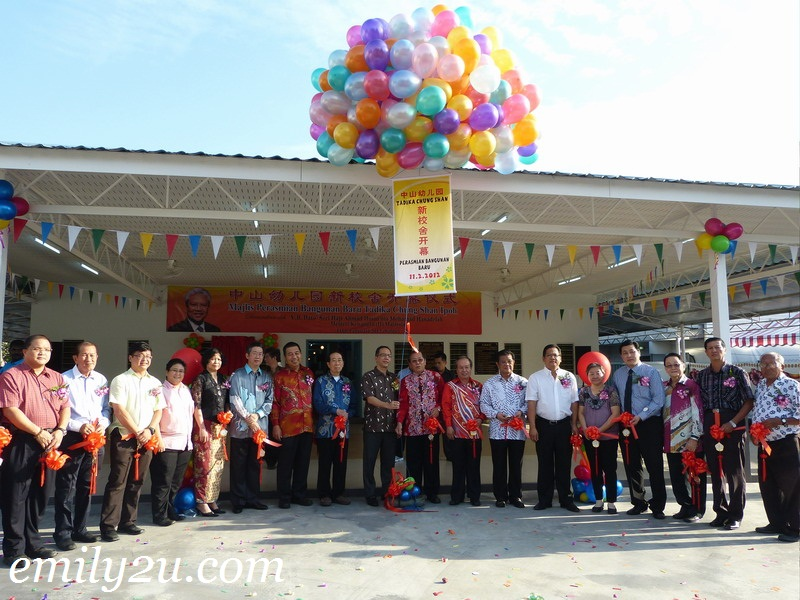 Officiating the New Wing of Chung Shan Kindergarten, Ipoh