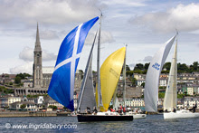 J/109 sailboats- sailing off Cork, Ireland  in Cork Week