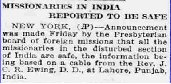 Old India Photos - News published in New York on 03-May-1919