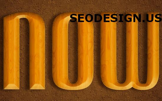Awesome Polished wood text effect tutorial by textuts