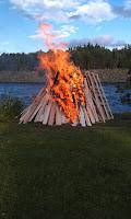 St. Hansfeiring på everkets fellesarealer i regi Rånåsfoss vel. Foto: Mette Haugland