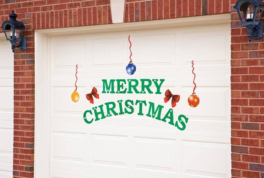 christmas garage magnetic door decor doors magnets splendid