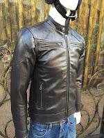 áo khoác da bò nam đen cao cấp