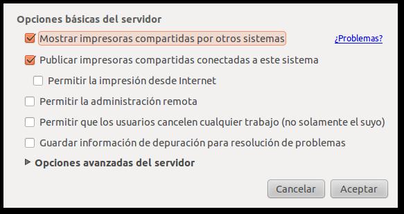 Compartir impresora Ubuntu