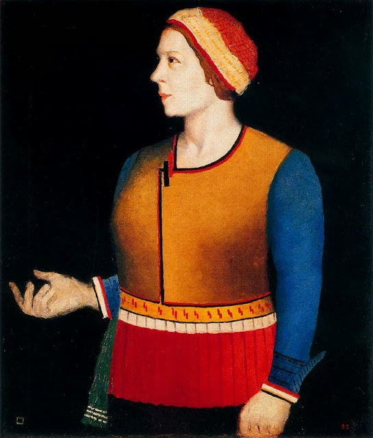 Kazimir Malevich - Portrait of the Artist's Wife