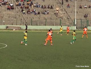 MK a partagé avec Etoile du Congo (1-1) en phase préliminaire de la Coupe de la Confédération de la Caf le 27 février 2015 à Kinshasa. Radio Okapi/Ph. Nana Mbala.