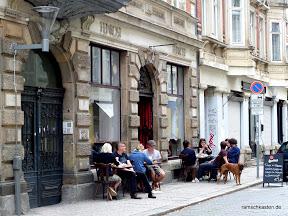 Mittagessen Leipzig - Café Tunichtgut - Strassenblick