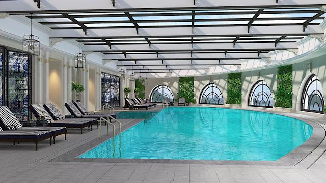 Bể bơi 4 mùa tại dự án LOUIS CITY