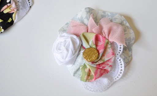 shabby hair clip fascinator