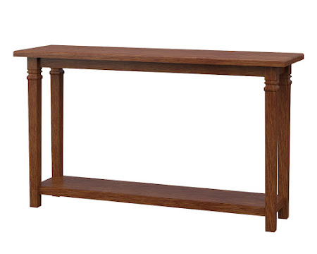 Corsica Sofa Table in Old Master Quarter Sawn Oak