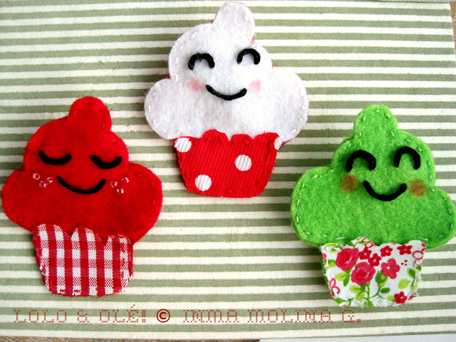 Broche Little Cupcake de Lolo & Olé!