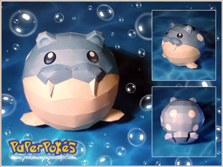 Pokemon Spheal Papercraft