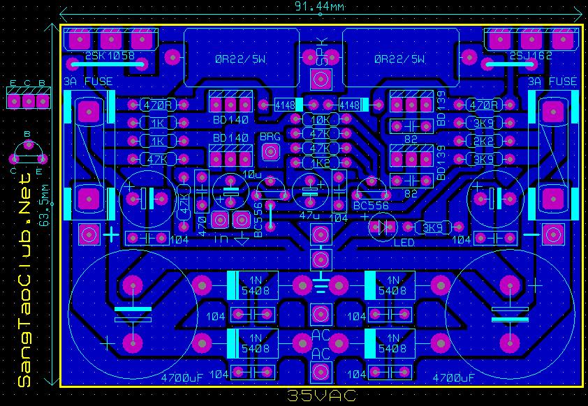 Làm mạch ampli 100W sử dụng cặp sò MOSFET 2SK1058 và ...
