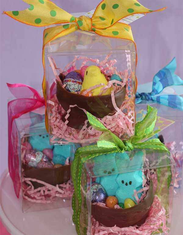Easter the egg decorating hunt party collection or give them as gifts as they walk out place in clear plastic boxes with some colored crate paper topped with a bright bow and one of our easter tags negle Images