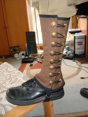 High Military Spats Pattern - Steampunk Fashion