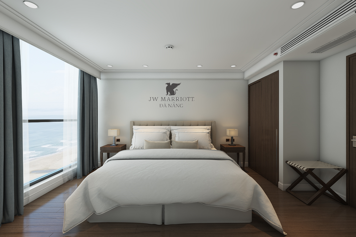 Phòng ngủ căn hộ Marriott