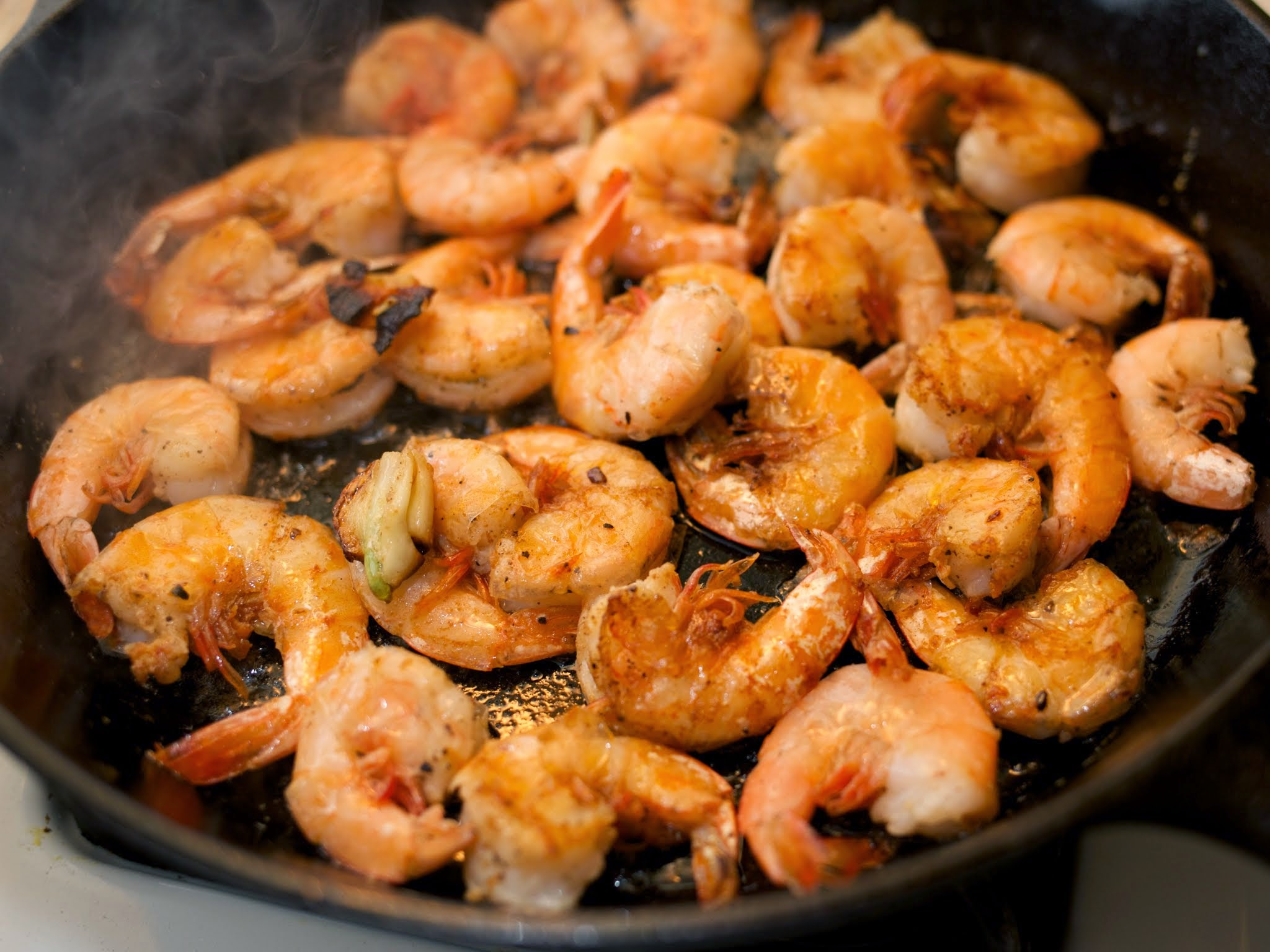 saute the shrimp add the shrimp stir to coat
