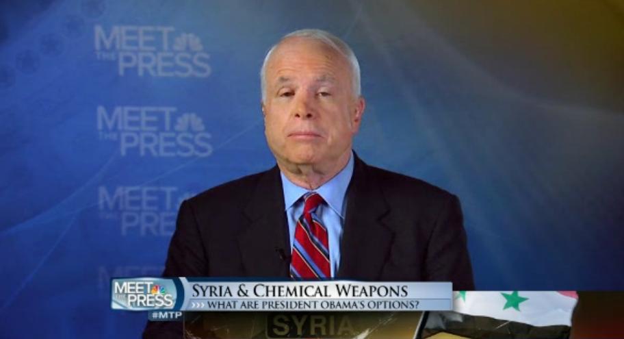 Sen. McCain says don't restrain Obama in Iraq