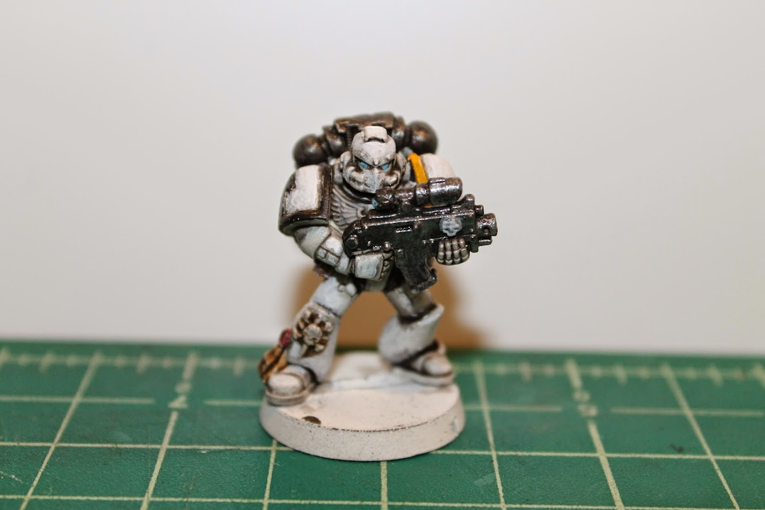 Space Marine in white power armor
