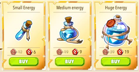Energy packs