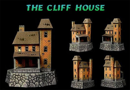 2011 Halloween Cliff House Papercraft