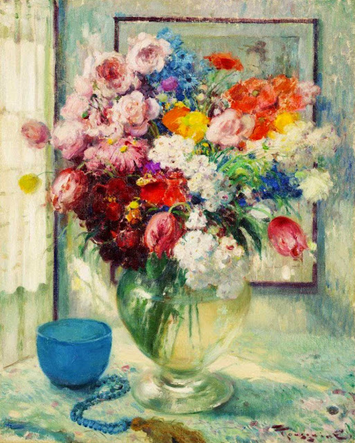 Fernand Toussaint - Still life of Flowers