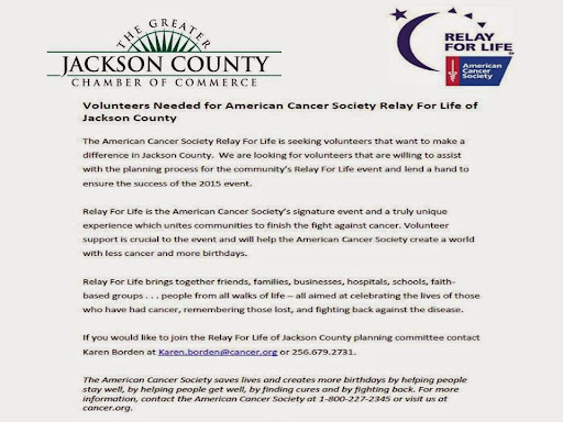 News Release - Relay for Life of Jackson County!