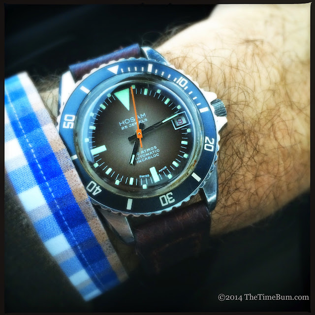 Vintage Hosam Dive Watch