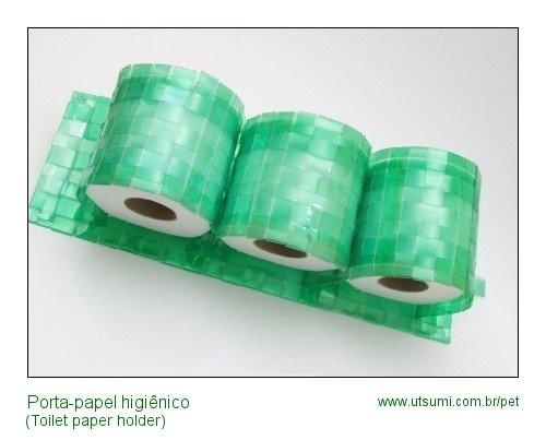 porta papel higienico de garrafas PET