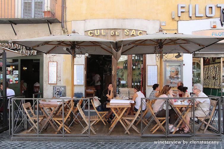 cul de sac, cul de sac roma, enoteca cul de sac, wine bar , wine bar in rome