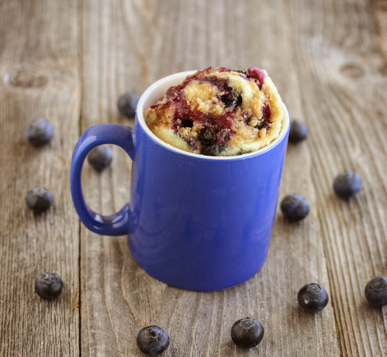 recipe: blueberry muffin in a mug [4]