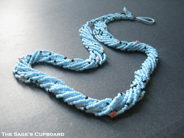 Picasso Blue Multistrand Necklace