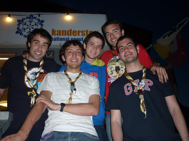 Álvaro, Santos, Paco, Aitor y Miguel Ángel (Grupo Scout Padre Coll 329 Albacete) en el KISC