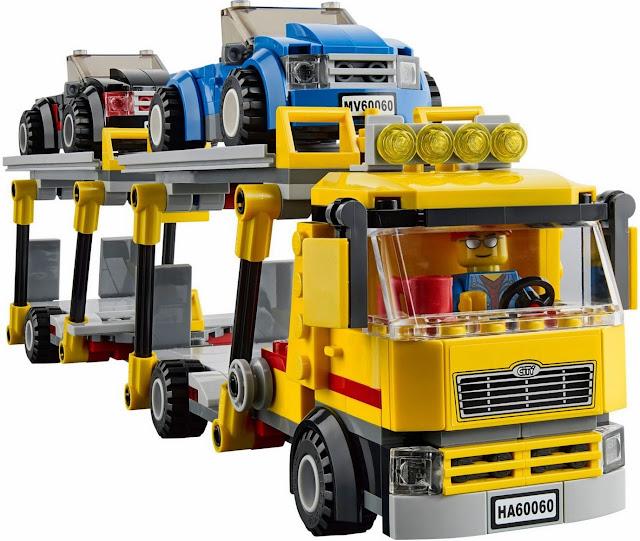 Mô hình xe vận chuyển ô tô trong bộ xếp hình Logo City 60060 Auto Transporter