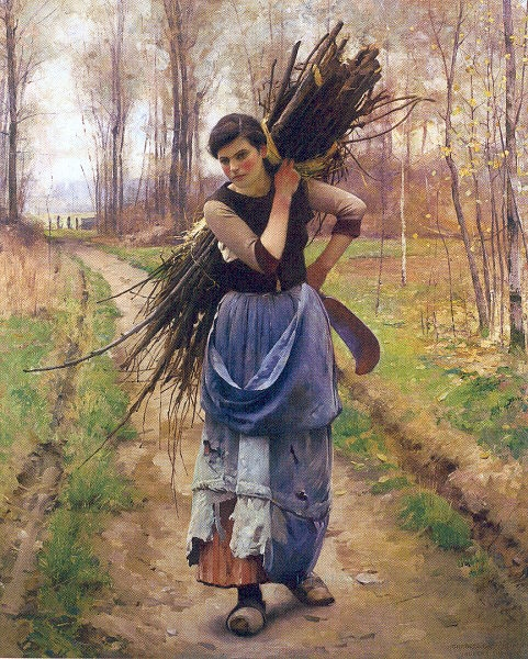 Charles Sprague Pearce – The Woodcutter's Daughter