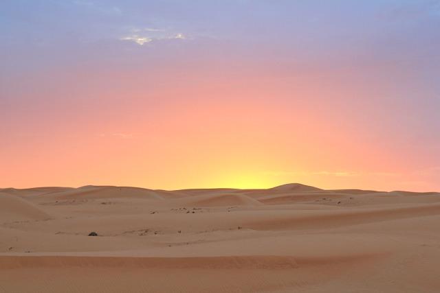 Arab desert sunset