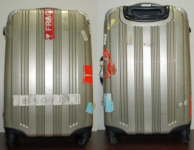 イオンのスーツケース裏表