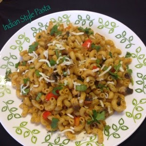 Simple Indian Style Pasta