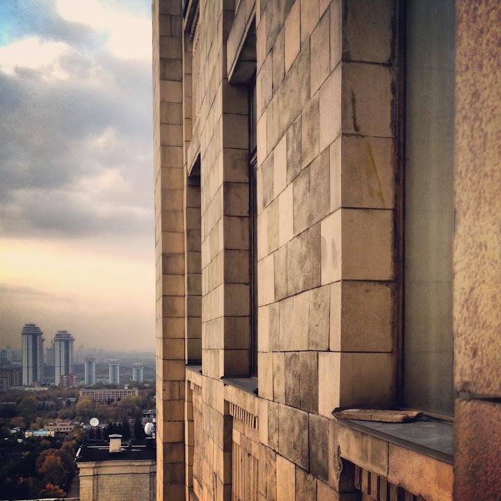 Тихонов Алексей, Чебоксары, Вид с 18 этажа главного здания МГУ (Москва), iphone 4s, Instagram
