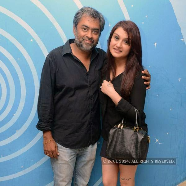 Aravind Krishna and Sonia Agarwal during the launch party of newly opened pub 'Small World' in Chennai.